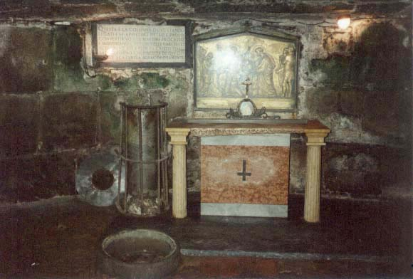 Chapel of the Mamertine Prison with St. Peter's Well