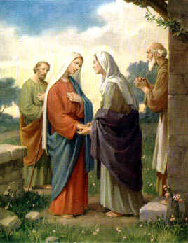 The Visitation of Our Lady to her cousin, St. Elizabeth